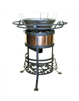 Buffet fryer, wrought iron and copper gas